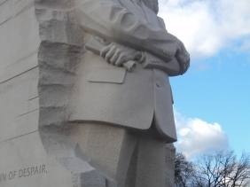 Photograph of MLK statue in Washington D.C.