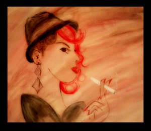 Chic Woman Cigarette