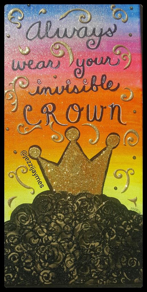 Afrocentric black art afro queen
