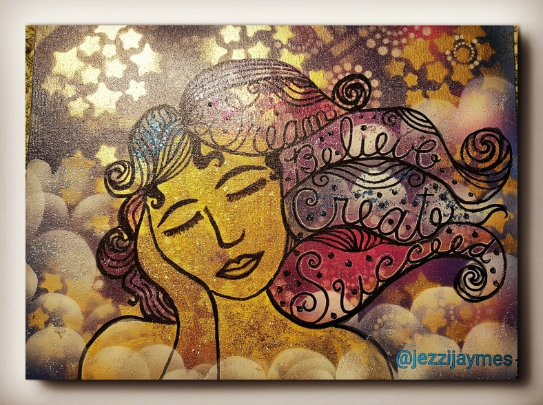 mixed media ethnic painting inspiration dreamr