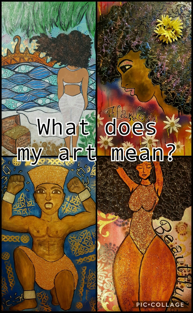Afrocentric art painting african american queen