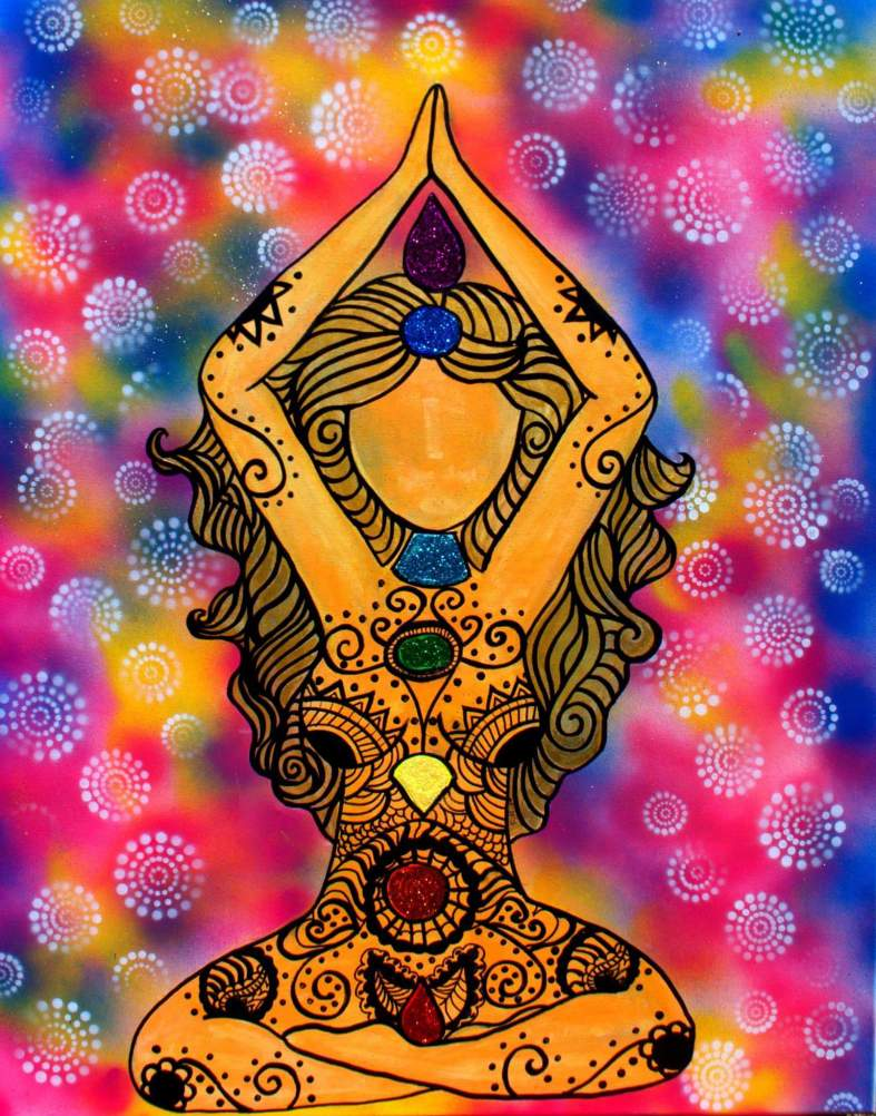 Meditation goddess painting art