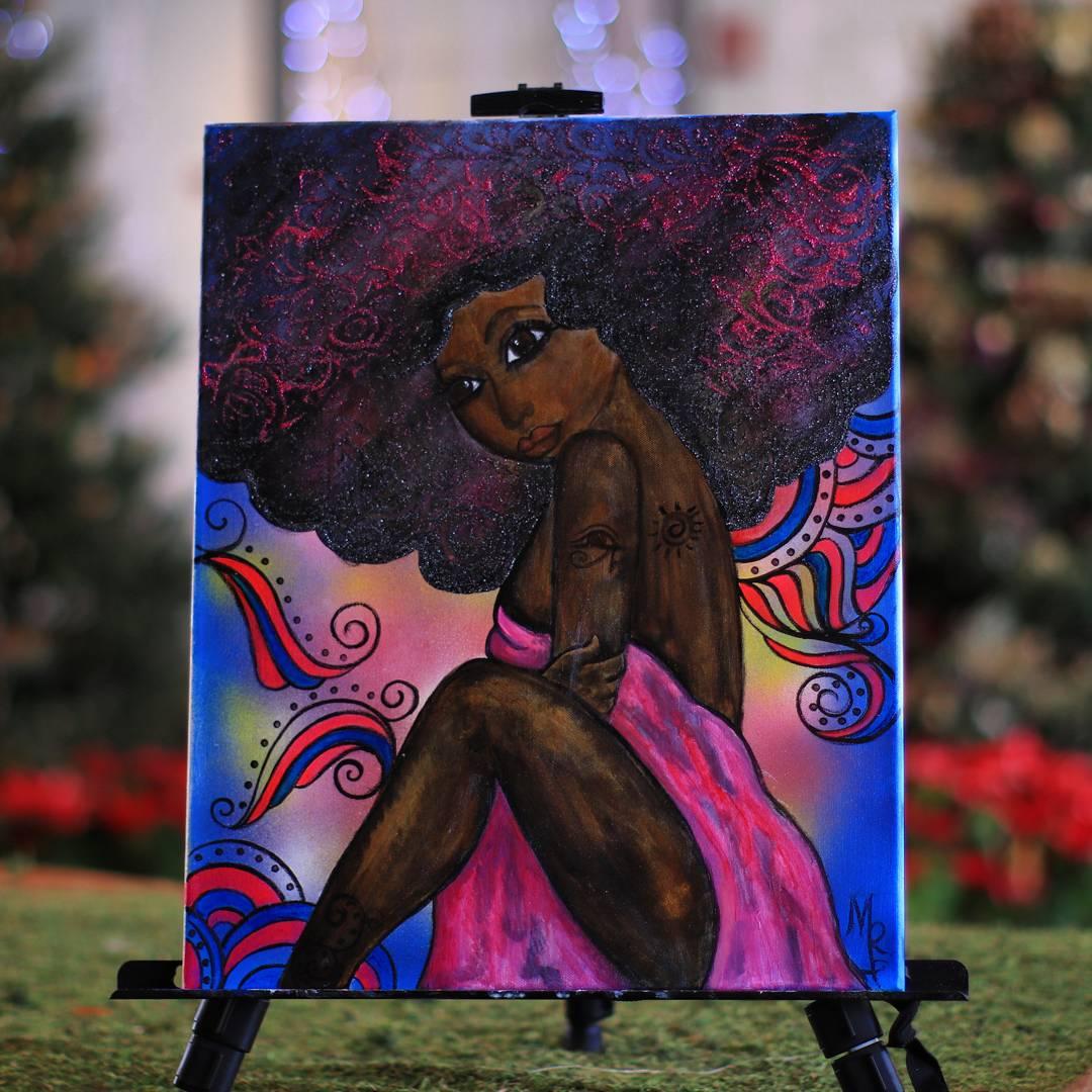 Retro Goddess art African American