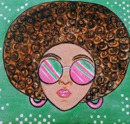 African American melanin pop art Black Art painting